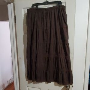 VGU size 3x Tiered Boho Peasant Skirt